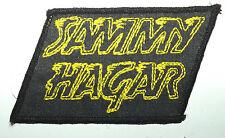 SAMMY HAGAR Yellow Logo Vintage Embroidered Sew On Patch 70`s/80`s Van Halen