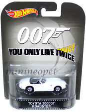 HOT WHEELS CFR18 JAMES BONE 007 YOU ONLY LIVE TWICE TOYOTA 2000 GT ROADSTER 1/64