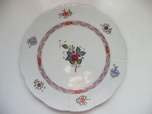 """Herend porcelain Multicolour Chinese Bouquet - 10"""" Cake Plate"""