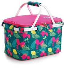 TUPPERWARE ISO Tasche rosa/türkis Kühltasche Picknicktasche Korb Tasche Picknick