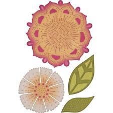 FLOWERS Bohemian Mehndi Botanicals Die Cutting Dies CHEERY LYNN DESIGNS B863 New