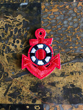 """1 Red Anchor Nautical Patches Iron On Sew On Patch 2.5""""L x 1.75""""W Same Day Ship"""