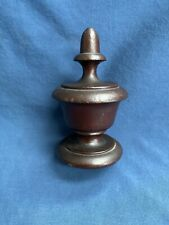 "Antique Wood Newel Post Finial 5 1/4"" Tall Furniture Architectural Salvage"