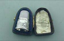 EXCELLENT CASED SILVER THIMBLE GREAT EXHIBITION 1851
