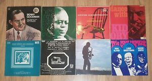 JOB LOT/COLLECTION 16 x JAZZ VINYL RECORDS LP's - armstrong,king oliver,kid ory