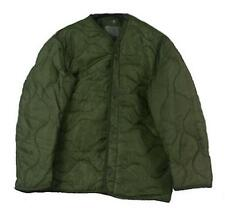 U.S. MILITARY M65 FIELD JACKET COAT LINER Used M-65 quilted OD, Size Large