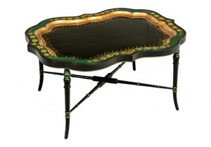 Decorative Carved And Gilt Serpentine Tray Cocktail Table