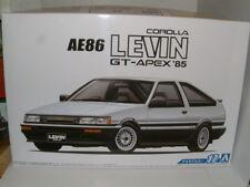 Toyota Corolla AE86 Levin GT-Apex 1985 (Inc Motor), 1/24 Kit Plástico Aoshima