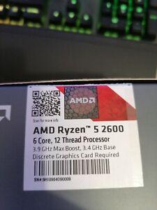 AMD Ryzen 5 2600 3,40 GHz AM4 Hexa-Coeur Processeur (YD2600BBAFBOX)