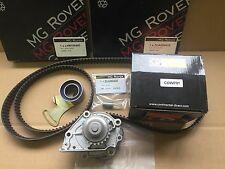 MG ROVER 200 25 MGF MGTF VVC GENUINE TIMING BELTS AND CONTINENTAL  WATER PUMP