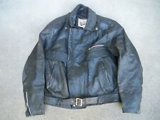 Vtg Open Road Distressed Leather Men's Black Chopper Motorcycle Riding Jacket 44