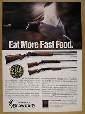 1992 Browning Citori Auto-5 & BPS Shotguns mallard duck photo vintage print Ad