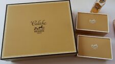 HERMES Caleche Soap x 2 (NEW) & Perfume Bottle (Used 40% left) = 3.5 ml Vintage