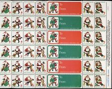 1982 USA Christmas Seal (Santa) Sheet of 36 + 6 Labels . Mint Never Hinged