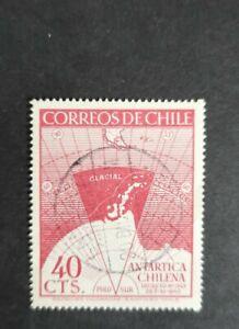 Chile stamp 1947 40cts VGU. Chilean antarctic.