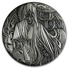 2016 Tuvalu 2 oz Silver Norse Gods Loki BU (High Relief) - SKU #102792