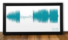 Wedding Gift - James Arthur Say You Won't Let Go PERSONALISED SOUND WAVE PRINT