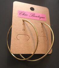 Earring Boho Festival Party Boutique Uk Gold Large Hoop Ring 50mm Luxury Fashion