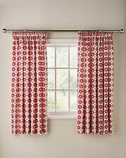 "Katie Floral Printed 3"" Tape Top Kitchen Curtains - Four Colours Available"