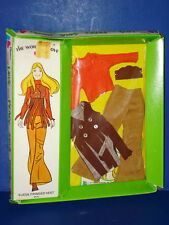 The World of Love SUEDE FRINGED VEST Hippie Outfit MIP! Hasbro 1971 MOD!