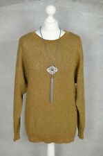 BY MALENE BIRGER Brown/Green metallic sparkle festive xmas jumper XS up to 12