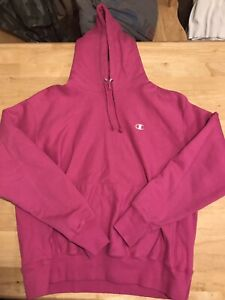Champion Reverse Weave Pullover Hoodie - Pink - XL