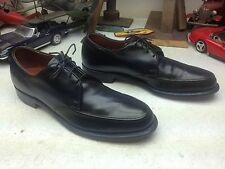 E.T. WRIGHT BLACK LEATHER LACE UP MADE IN USA BUSINESS SATURDAY POWER SHOES 9 A