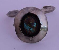 Shadowbox Turquoise Native American Big Cuff Bracelet Vintage Navajo Big Old