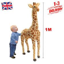 100cm Plush Giraffe Doll Giant Large Stuffed Animals Soft Kids Toy Xmas Gift UK