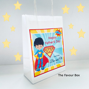 Personalised Father's Day Paper Gift Bag - Superhero
