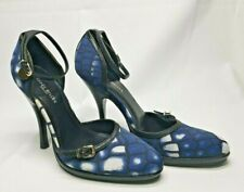 Karen Millen blue & white  with  leather shoes, Size Uk3 EU 36 RRP £120 party