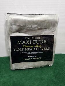 Golf Club Head Covers Maxi Furr Premium Plush Gray