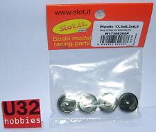 SLOT.IT W17308205P RIM 17.3x8.2x0.5mm PRO PLASTIC BLACK 0.7Gr. 4 PIECES