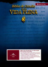Biblia de Estudio Vida Plena reina valera1960 piel con indice negro