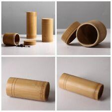 Bamboo Storage Box Coffee Tea Caddy Lid Seal Kitchen Storage Jars Spice Box