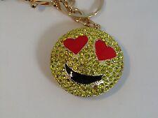 Keyring 3D grumpy Angry Face Emoji Bag Tag pouting emoji face