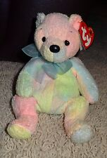 TY Beanie Baby Mellow Bear Soft Pastel Colors Tie Dye PE Pellets 2000 - TH