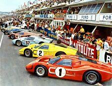 Racer GT40 Ford 1967 GT 1 Vintage Sport 64 Race 43 Car 24 Exotic 18 Metal 12