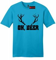 Oh Deer Funny Mens Soft T Shirt Hunting Season Boyfriend Girlfriend Gift Tee Z2