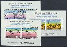 Korea Süd Block 592/94 postfrisch / Briefmarkeausstellung ......................