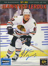 Jean-Yves Leroux signed Hawks Collector Series photo
