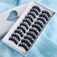 10 Pair Long Voluminous False Eyelashes Eye Lash Makeup ED