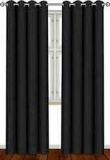 """Utopia Bedding 52"""" Wide X 84"""" Long Blackout Window Panel Curtains - Black, Set of 2"""