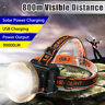90000LM T6 LED Rechargeable Headlight Head Lamp Light Torch Camping Flashlight