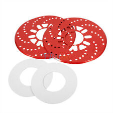 Pair of Aluminum Disc Brake Cross-Drilled Rotor Cover for Truck Car Vehicles SG