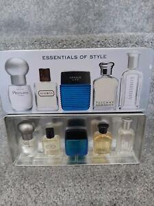 Mens Miniature Aftershave Set - Aramis, Tuscany, Lauder, Tommy 5ml 6ml 7ml
