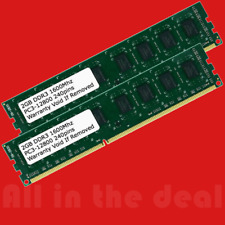 4GB 2x 2GB DDR3 1600MHz PC3-12800 DESKTOP Memory Non ECC 1600 DDR3L RAM 4G PC3L
