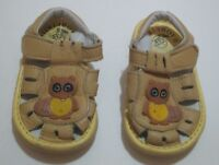INFANT TODDLER BOYS GIRLS BAOBEIRIJI YELLOW LIGHT UP RACCOON SANDALS SHOES 4 5
