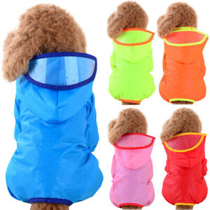 Puppy Dog Outdoor Raincoat Hoody Clothes Waterproof Rain Coat Jacket Hoodie