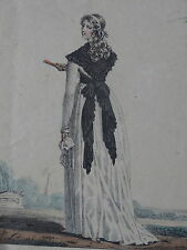 Litho MODE FEMME COSTUME ROBE WOMAN FASHION DRESS 1793 H. LECOMTE DELPECH 1820